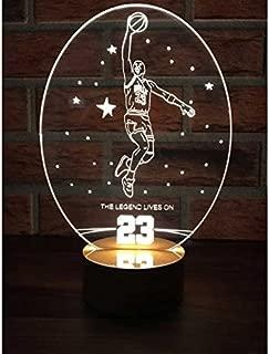 By-Lamp 3 Boyutlu Michael Jordan Lamba