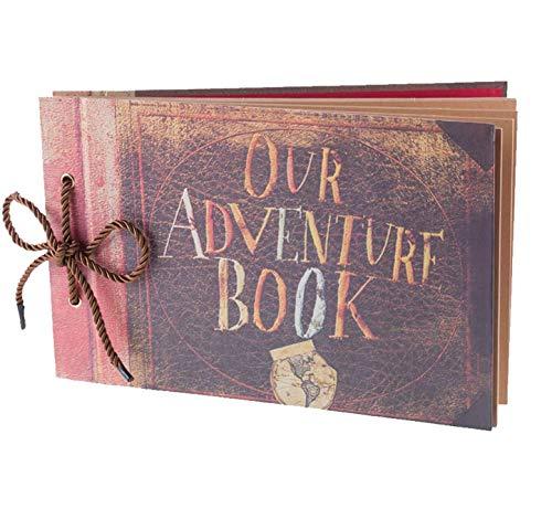 AIOR Our Adventure Book Álbum de Fotos, Álbum de Recortes, Album Fotografico Scrapbook, Libro de Invitados Boda Aniversario Regalo del día de San Valentín, 80 Páginas (40 Hojas)