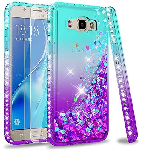 LeYi Funda para Samsung Galaxy J5 2016 Silicona Purpurina Carcasa con [2-Unidades...