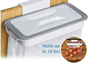 Cyrox Hanging Kitchen Cupboard Door Back Style Stand Trash Attach Holder Garbage Bags Storage Rack Accessories (Assorted) - 1 PC