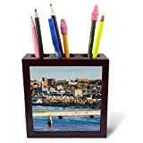 3dRose Canada, Quebec, Saguenay-Chicoutimi. Elevated City View - Tile Pen Holders (ph_329957_1)