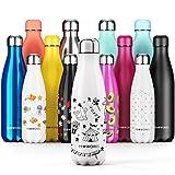 Proworks Bottiglia Acqua in Acciaio Inox, Senza BPA Vuoto Isolato Borraccia Termica in Metallo per...