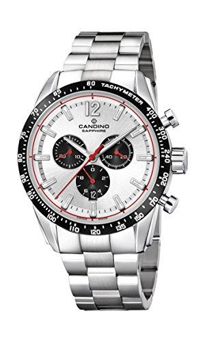 Candino Herren Chronograph Quarz Uhr mit Edelstahl Armband C4682/1
