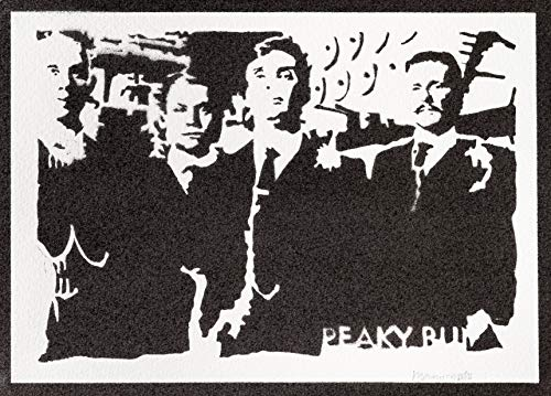 Poster Peaky Blinders Grafiti Hecho a Mano - Handmade Street Art -...