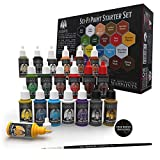 Grinning Gargoyle - Sci-Fi Paint Set - Acrylic Paints for Miniatures - 20x Assorted 18ml Colours with a Paint Brush - Army Painter Warpaints for Painting Space Marine and Aliens Figures (Starter)