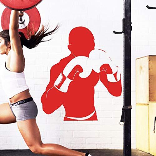 Njuxcnhg Art Design Dekoration billig Vinyl Boxer Wandaufkleber abnehmbare Haus dekor Sport Spiel Gym dekorative Aufkleber 58X68 cm