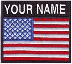 USA Custom Badge Flag Name Embroidered Sew on Patch