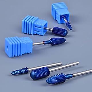 "Generic G: 1PC Tungsten Carbide Drill Bit 6 Styles Blue Flame Round Head 3/32"" Manicure Electric Nail Art Salon Files Acce..."