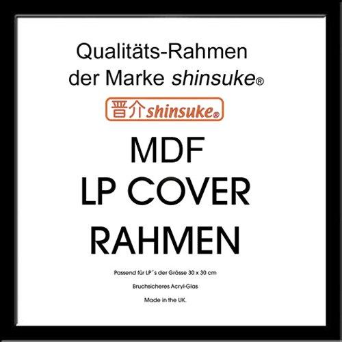 empireposter LP Schallplatten-Cover Rahmen - LP Wechselrahmen der Marke Shinsuke® für LP-Cover 3 cm MDF Holzfaserwerkstoff 31,5x31,5 cm schwarz