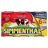 Simmenthal - Piatto Pronto, Di Carni Bovine In Gelatina Vegetale - 90 G 6 Scatole
