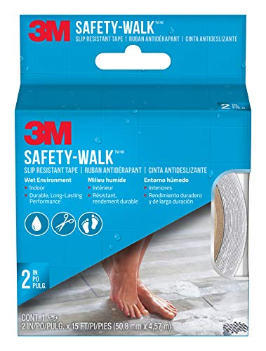 3M Safety-Walk Slip Resistant Tape, 2 in X 15 ft, Clear
