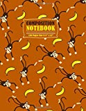 Composition Notebook: Notebook Funny Monkey with Banana pattern Journal to Take Notes Ideal Gift for Kids and Adults size 8.5' x 11' 120 lined pages