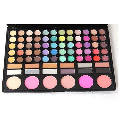 MZP Maquillage 78 ombre à paupières couleur blush capacité de réparation de lip gloss débutant kit de maquillage professionnel ombre véritable oeil multi-couleurs , 1 color