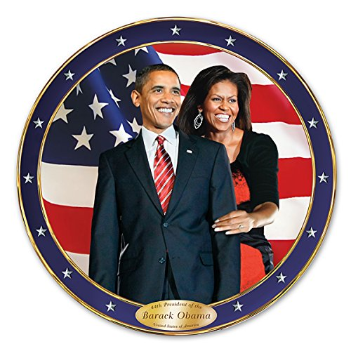 An Historic Change Barack And Michelle Obama Commemorative Collector Plate by The Bradford Exchange