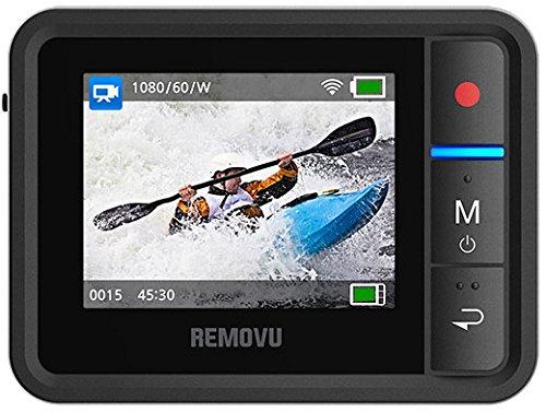 Removu RM-R1 Live View Remote for GoPro HERO3/HERO3+/HERO4 and GoPro Hero4 Session (Black)
