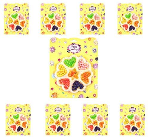 GEO-VERSAND 8 x parels oprijgen spel meisjes verjaardag meegebellen, meerkleurig, 100415
