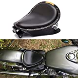 Black Motorcycle Rivet Solo Seat Spring Bobber With Base Plate For Harley Davidson Iron 883 Chopper