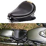 Selle per moto, Cuscino monoposto sedile in pelle nera a molla adatta per Bobber Sportster XL883 1200 48 Forty Eight Fatboy Softtail Dyna Street Glide Chopper