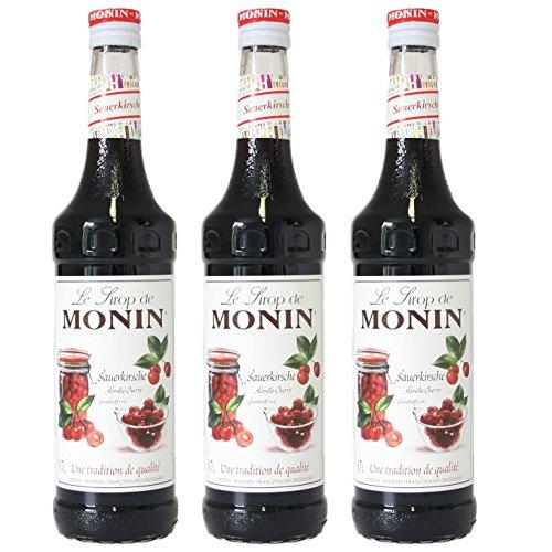 Monin Sirup Sauerkirsche, 0,7L 3er Pack