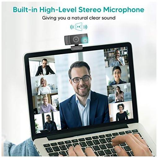 Wansview Webcam 1080p Autofocus con Microfonos de Reducción de Ruido, USB Webcam Plug and Play con Clip Giratorio, Full… 4