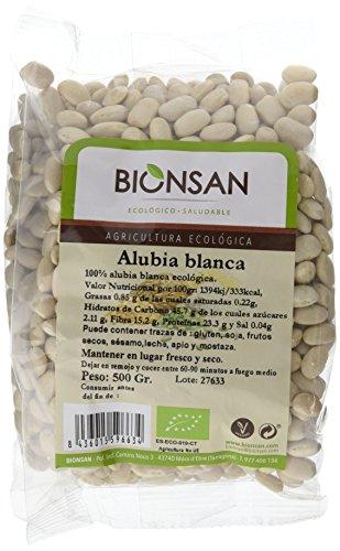 Bionsan Alubia Blanca Ecológica - 6 Bolsas de 500 gr - Total: 3000 gr