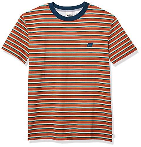 Quiksilver Herren Short Sleeve Tee Button Down Hemd, Redwood Tabira, Mittel