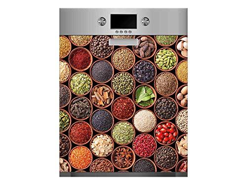 Vinilo para Lavavajillas Verduras Legumbres Colores | Varias Medidas 65x75cm | Adhesivo Resistente y de Fácil Aplicación | Pegatina Adhesiva Decorativa de Diseño Profesional