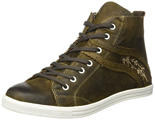 Spieth & Wensky Damen 457 D Waltrun Hohe Sneaker, Braun (Rustik/St 249 Beige 3395), 38 EU