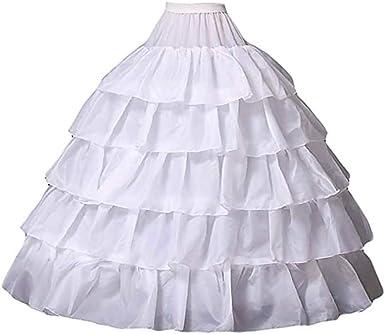 Mallalah Crinolina Enaguas Mujer Largas para Vestidos de Novia Boda Faldas Falda Enagua de Crinolina para Mujer Falda de Bata de Baño Chaqueta de ...