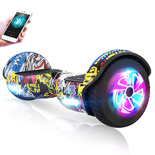 "M MEGAWHEELS 6.5"" Self Balance Bluetooth Scooter mit 2 * 250W Motor Und LED Lights Elektroscooter (Hiphop)"
