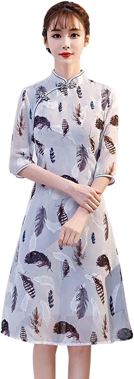 YONGMEI Original Flower Season Maiden Fashion Cheongsam Dress 032