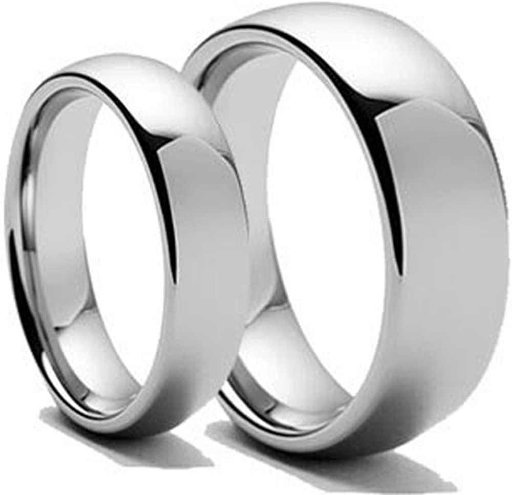 Men's Ladie's Dallas Mall 8MM List price 6MM Polished We Carbide Shiny Domed Tungsten