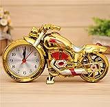 PLYY Goldene Motorrad Wecker Kreative Faule Niedlichen persönlichkeit Kinder Wecker nachttischuhr