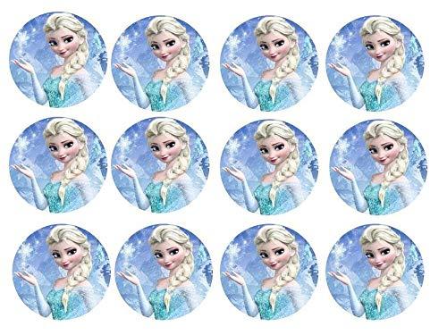 Torten Deko Shop ELSA, Frozen, Eiskönigin Cupcake, Muffinaufleger Eiskönigin - Kuchen aufleger Cup Cake Zuckerbild Kuchenplatte Oblate