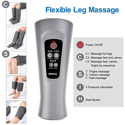 RENPHO Leg Massager With Heat And Compression