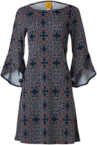 Ruby Rd Women s Sundial Puff Print Dress Navy Multi L product image