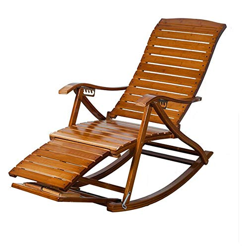 FUFU Tumbonas Jardin Exterior Silla reclinable ajustable de 6 posiciones, plegable natural duradero salón de bambú adirondack asiento para jardín al aire libre patio sala de estar porche, reclinable d