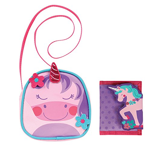 Stephen Joseph Girls Unicorn Crossbody Purse and Wallet Combo - Cute Kids Gifts