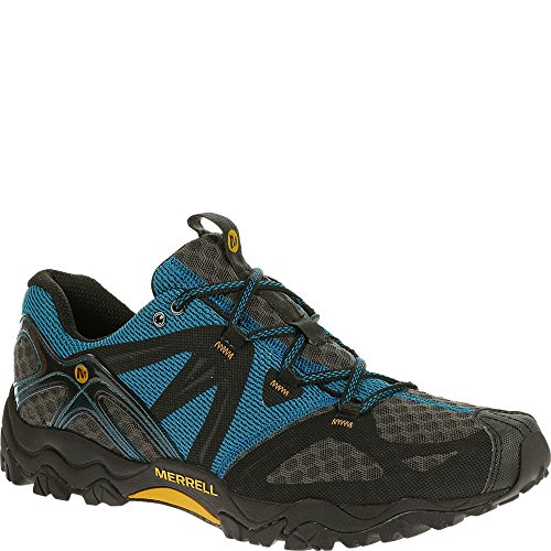 Merrell Men's Grassbow Air Trail Running Shoe,Black/Silver,7.5 M US