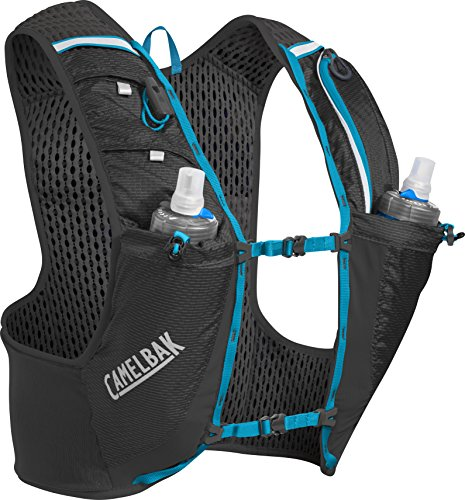 Camelbak Ultra Pro Vest Quick Stow Flask S Trinkrucksack, Black/Atomic Blue, 17 oz