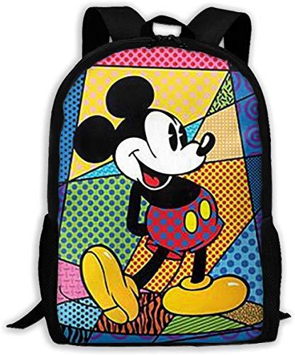 Mochila básica clásica colorida del viaje del ratón MIk-Key para la escuela resistente al agua Bookbag