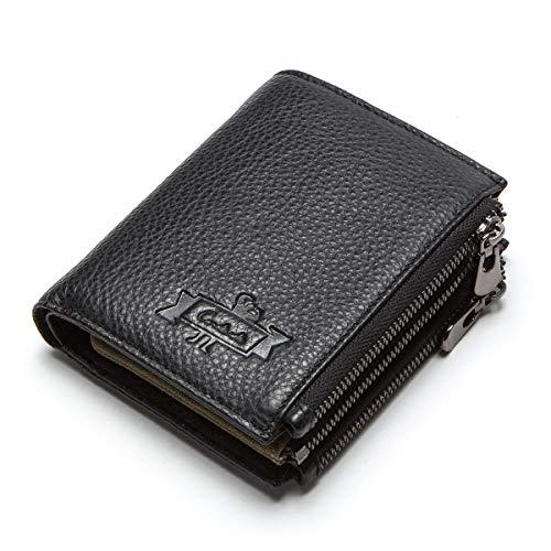 Men Genuine Leather RFID Blocking Secure Long Secretary