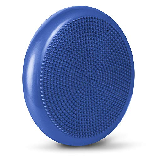 LOMOS ergonomisches Balance-Sitzkissen inklusive Luftpumpe in blau, Ø 33 cm
