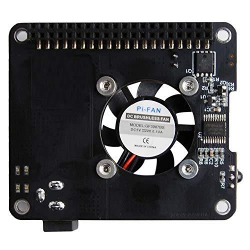 MakerFocus Raspberry Pi 4 Power Expansion Board DockerPi Power Board 20W 5V 4A Power Supply Safe Shutdown with Cooling Fan Infrared Remote Control Compatible with Raspberry Pi 4 and 3B+