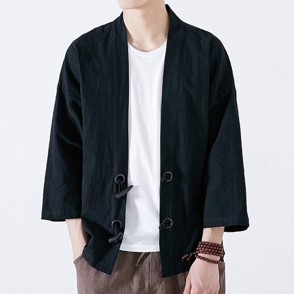 Loose Grande Taglia Zolimx Cappotto Uomo Cloak Chinese Style Cardigan Kimono Giapponese per Uomo Donne Casual Kimono Jacket
