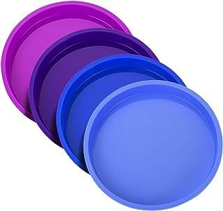 Moule à Gâteau Rond en Silicone 15cm - Moule à Pâtisserie Arc-en-ciel Moule Rainbow Cake Anti-adhésifs sans BPA pour Fête ...