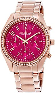 Caravelle New York Women's Quartz Watch with Stainless-Steel Strap, Rose Gold (Model: 44L223)