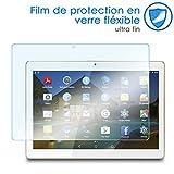KARYLAX Protection d'écran Film en Verre Nano Flexible Dureté 9H, Ultra Fin 0,2mm et 100% Transparent pour Tablette BEISTA Tablette Tactile 10,1 Pouces