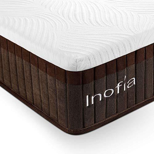 Inofia Single Memory Foam Mattress 11.4 Inch , 3FT Single Mattress with LegenComfort Memory Foam / Extraordinary Pocket Coil Technology /100 Night Test at NO Risk (90x190x29cm)