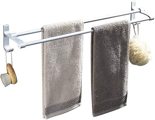 ZfgG Handdoekhouder, 2-polig, plank, badkamerrek, aluminium riem, Hook Camera Shelf